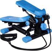 relaxdays swing stepper - 2 weerstandsbanden - computer - verstelbare weerstand - Blauw