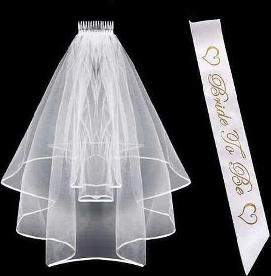 Bride to be set - Vrijgezellenfeest Vrouw Accessoire - Sjerp Sluier