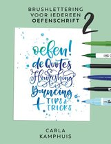 Kosmos Boek - Brushlettering voor iedereen - Oefenschrift 2 Carla Kamphuis