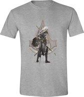 Assassin's Creed: Origins - Character Stance Men T-Shirt - Grijs Melange - Maat XXL