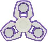 Fidget spinner paars wit hand