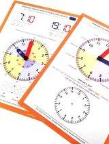 Leren klokkijken - analoog en digitaal - Set van 5