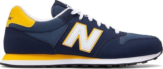 New Balance GM500 Sneakers - Maat 41.5 - Unisex - donker blauw/geel/wit