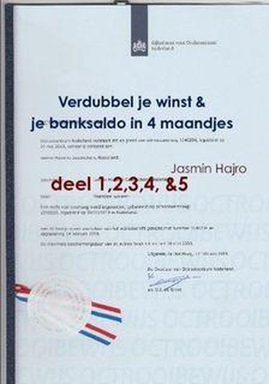 Winstgroei - Verdubbel je winst & je banksaldo, in 4 maandjes - Jasmin Hajro |