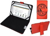 Hoes voor It Works Tm904, Cover met Fragile Print, Rood, merk i12Cover
