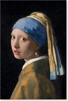 Meisje met de parel - Johannes Vermeer - Schilderij op Canvas