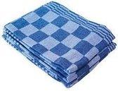 Treb Horecalinnen Theedoeken - 60x65 cm - Blauw en Wit geblokt - 6 stuks