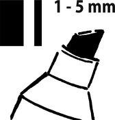 Krijtmarker Sigel beitelpunt 1-5mm zwart