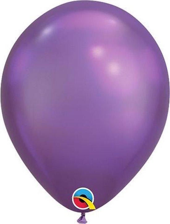 Paars CHROOM , Qualatex ballonnen , 11 inch,100st