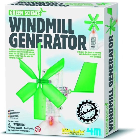 4m Kidzlabs green science: windmolen generator frans