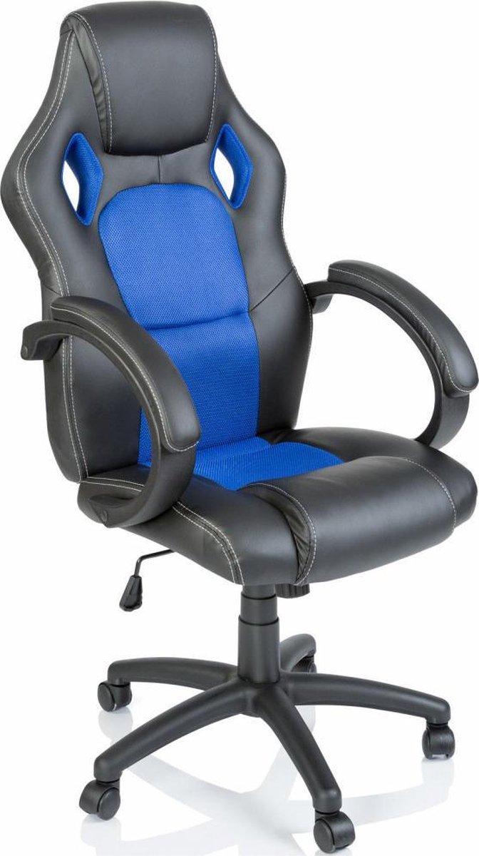 Bureaustoel Gamestoel blauw