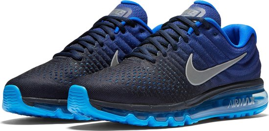 nike air max 2017 blauw wit