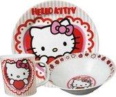 Ontbijtset Hello Kitty Hart porselein