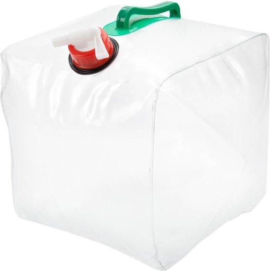 Summit - Opvouwbare Jerrycan Transparant - Waterkan met tapkraan - 10 Liter