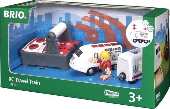 Afbeelding van BRIO Witte RC locomotief met afstandsbediening - 33510 speelgoed