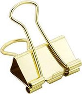 LPC Papierklem Fold back clips - goud - 19 mm -100 stuks