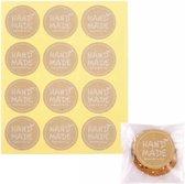 Cadeaustickers 'Handmade' – 60 stuks -Levay ®