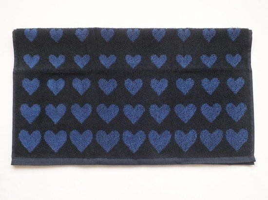 Bunzlau Castle Handdoek Hearts Dark Blue