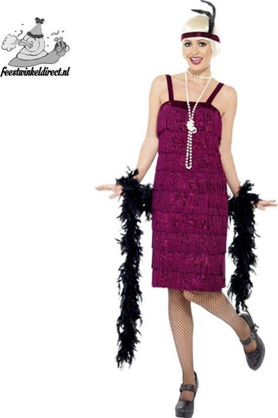 Jazz Flapper kostuum Burgundy - Maatkeuze: Maat XL