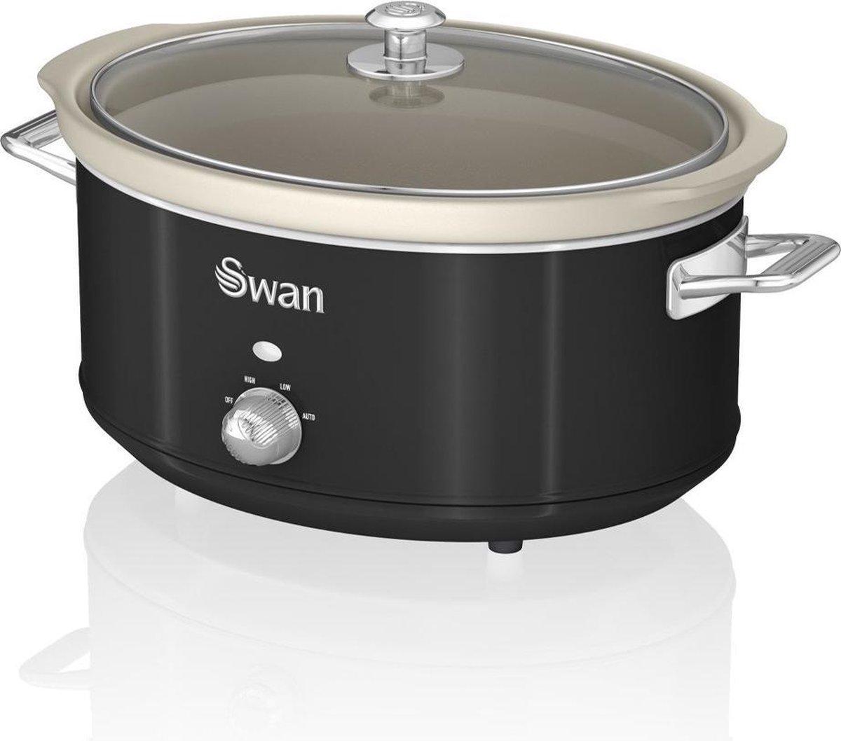 Swan Retro Slowcooker Zwart 6.5 liter online kopen