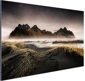 Noors berggebied en fjorden Aluminium 180x120 cm - Foto print op Aluminium (metaal wanddecoratie) XXL / Groot formaat!
