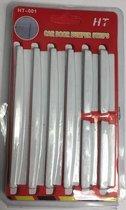 Stootstrips voor auto - Autodeur beschermers - Bescherm uw en andermans auto bij het uitstappen - Wit