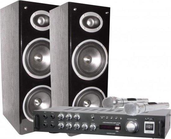 LTC Audio Karaoke set met digitaal display + Bluetooth 200 Watt USB