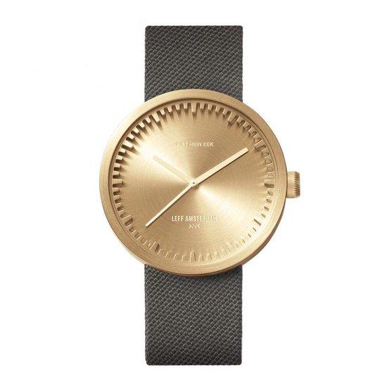 LEFF amsterdam – D42 – Horloge – Cordura – Goud/Grijs – Ø 42mm