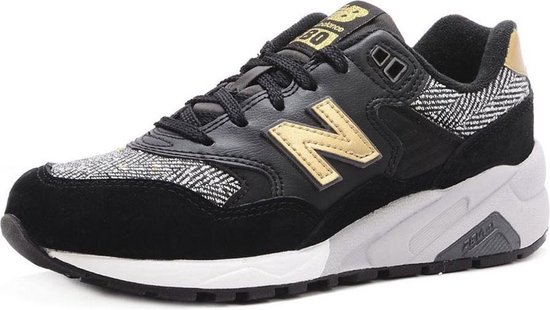 bol.com | New Balance 580 Zwart Gouden Dames sneakers ...