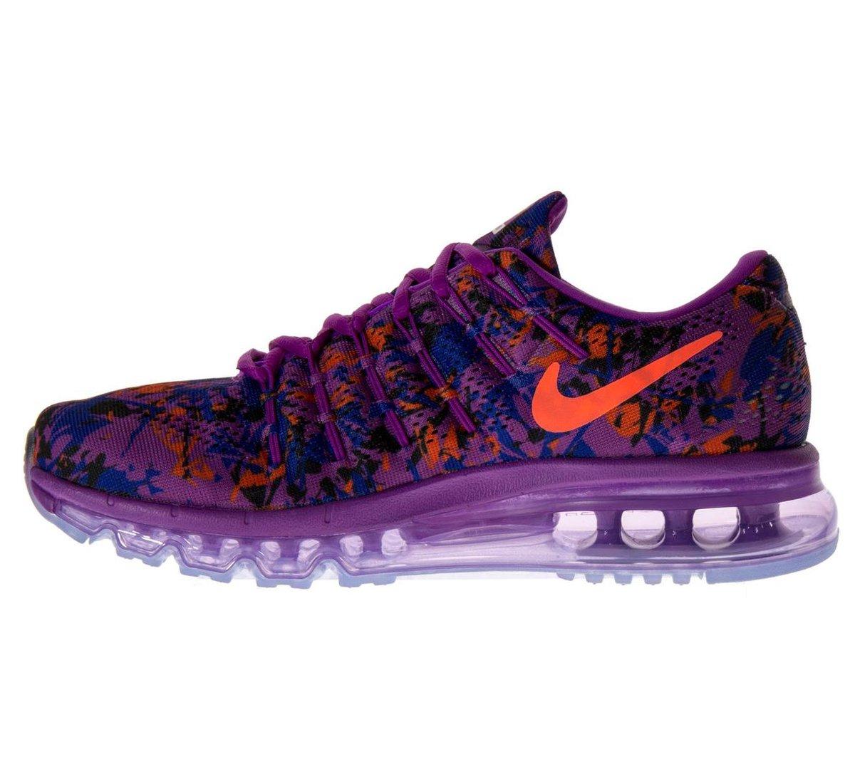 Nike Air Max 2016 Print Sneakers Dames Sportschoenen Maat 36.5 Vrouwen paarsoranjeblauw