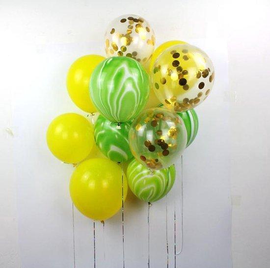 Confetti Ballonnen Set 15 Stuks Groot | Verf | (32 inches) | Groen | Baby Shower Bruiloft Verjaardag Feestje