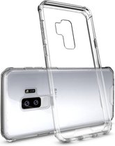 Let op type!! Voor Galaxy S9 + acryl + TPU dekken schokbestendige transparant Armor beschermende back cover(Transparent)