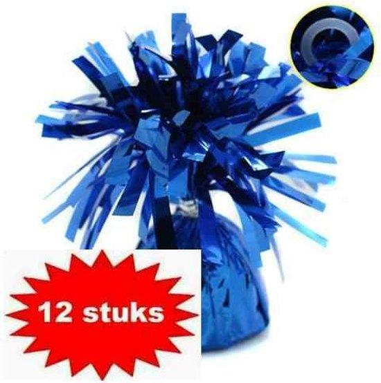 ballon gewichtje 170 gr blauw 12 stuks