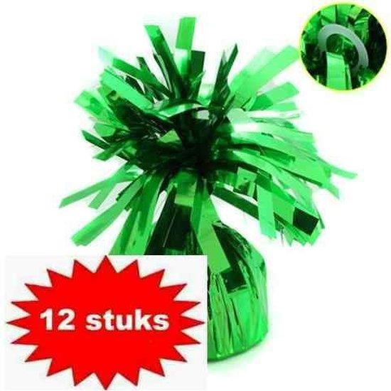 ballon gewichtje 170 gr groen 12 stuks