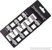 """Silverline 7-delige inbus bit set met 3/8"""" aandrijving Inbus 3 - 10 mm"""