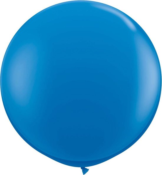 Donkerblauwe ballon XL - 90cm