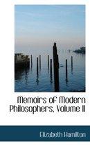 Boek cover Memoirs of Modern Philosophers, Volume II van Elizabeth Hamilton