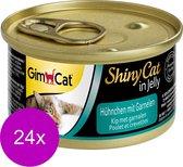 Gimpet ShinyCat - Kip/Garnaal - Kattenvoer - 24 x 70 g