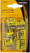 ELEKTROFIX 20 stuks lasklemmen geel 5-voudig / 1.5 tot 2.5mm