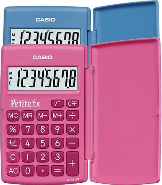 Casio Petite FX - Bureaurekenmachine / Blauw - Casio