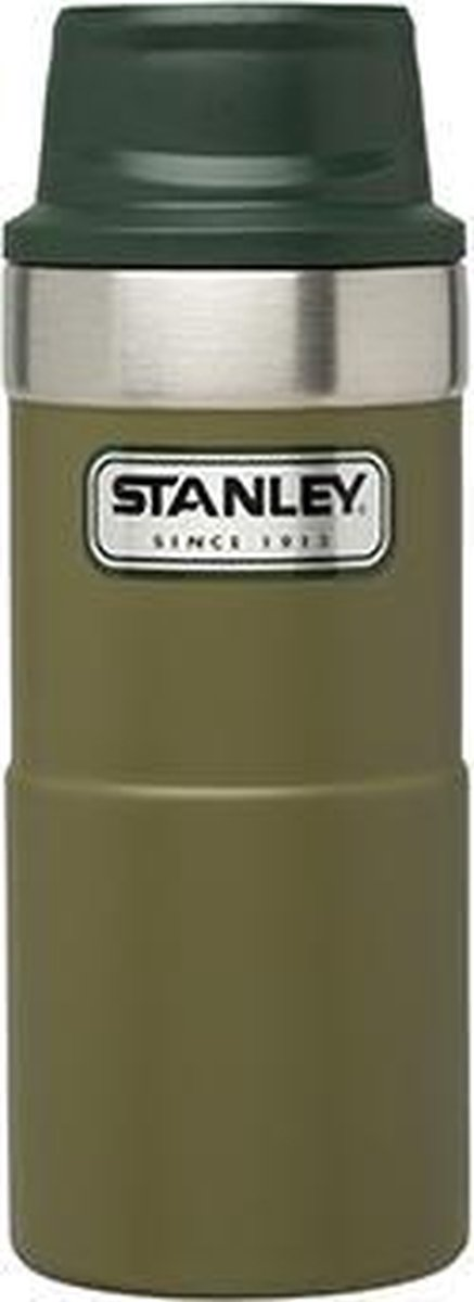 Stanley 0.35L Classic 1-Hand Vacuum Mug 2.0 Nieuw!! - Drinkfles - Olive Drab - Stanley PMI