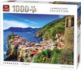 Afbeelding van King Puzzel 1000 Stukjes (68 x 49 cm) - Vernazza Italie - Legpuzzel - Landschap - Volwassenen