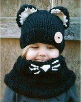 Kindermuts + sjaal combinatie  - Muts voor kinderen - muts voor jongens - muts voor meisjes - kindersjaal
