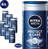 NIVEA MEN Protect & Care - 6 x 250 ml - Voordeelverpakking - Douchegel