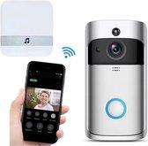 Deurbel met camera – Draadloze deurbel met camera – Deurtelefoon inclusief gong met 12ringtones. Video deurbel 1080p