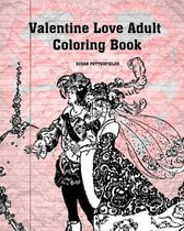 Valentine Love Adult Coloring Book