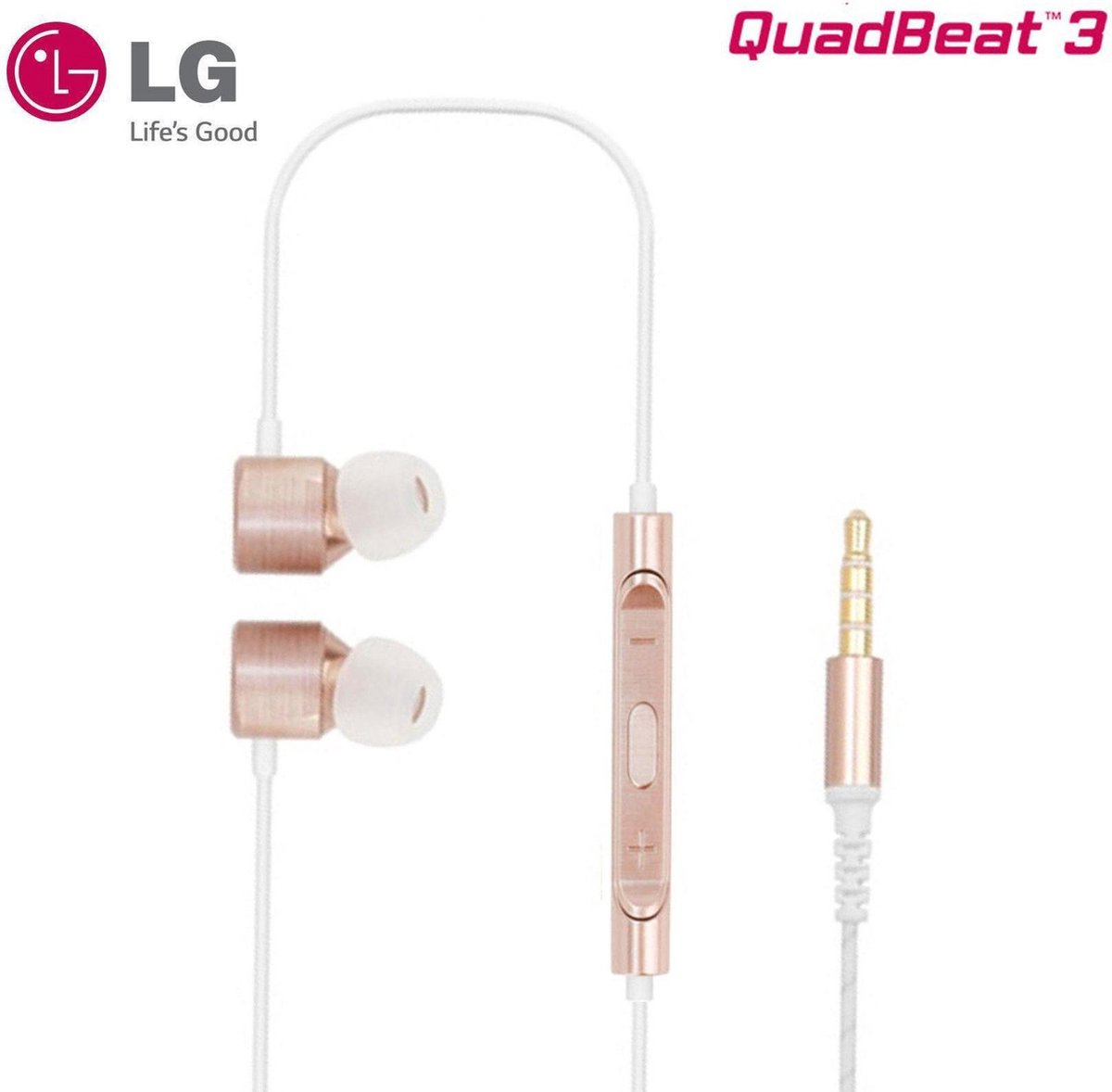 LG Quadbeat 3 In-Ear Stereo Headphones 3.5mm - Goud