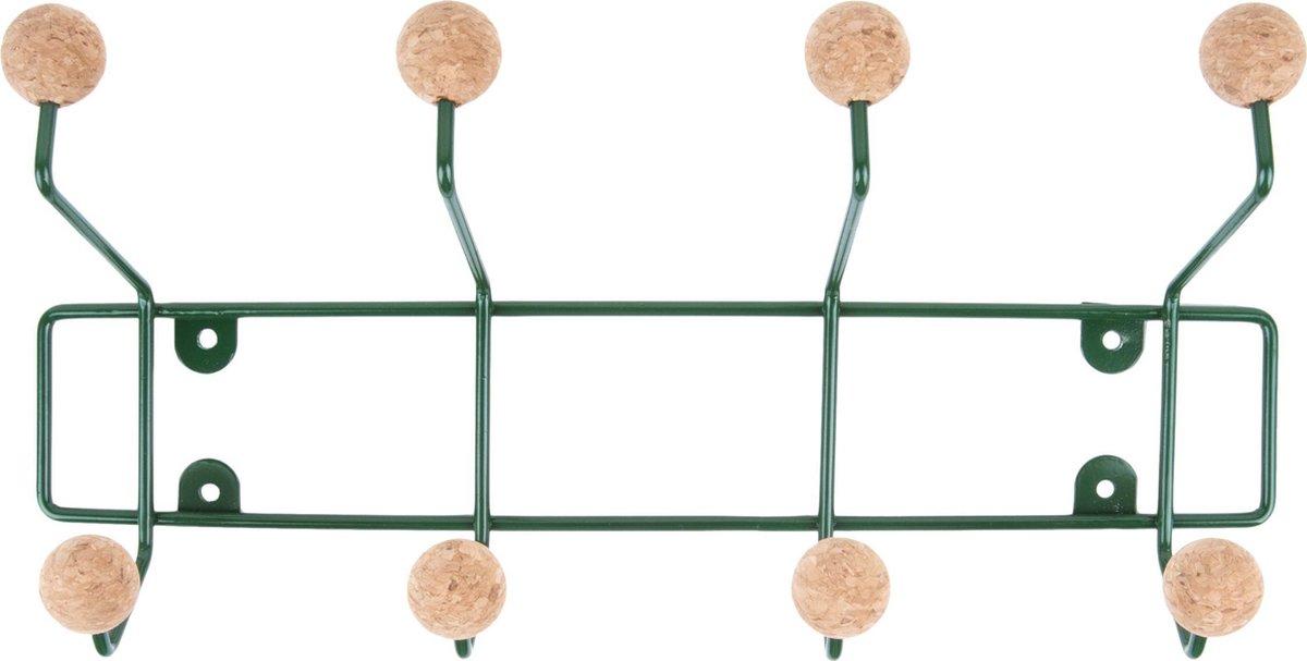 Hat rack Saturnus green w. cork balls - PT LIVING