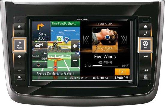 """Alpine X800D-V navigator 20,3 cm (8"""") Touchscreen LCD Vast Zwart 2,9 kg"""