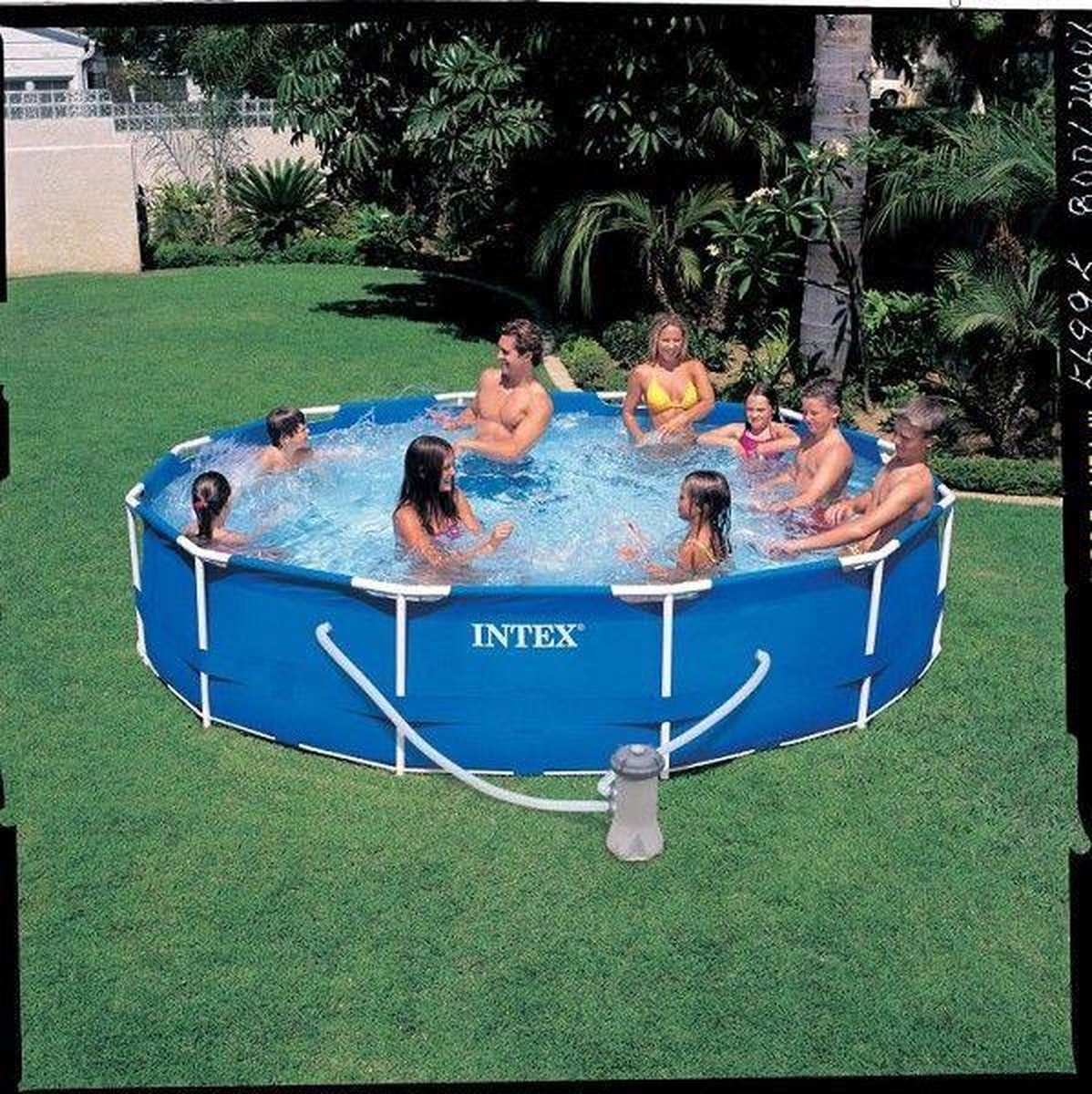 intex 28212GN frame zwembad+filter366x76